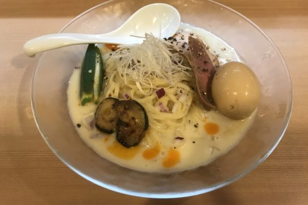 【ラーメンレビュー】新宿三丁目:らぁ麺はやし田の夏季限定はやし田ヴィシソワーズを食べてみた