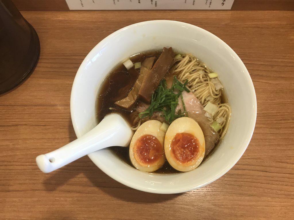 経堂:らぁ麺 時は麺なりの味玉らぁ麺を食べてみた【ラーメンレビュー】